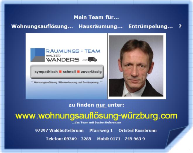 Würzburg Haushaltsauflösung Entrümpelung Räumung Wohnungsauflösung ArtfünfBildzwei